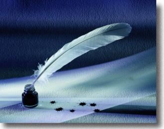 Бумага, чернила, перо - возьми, макни, пиши...