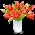 Ваза с розами Подарок от автора Aферистка
