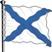 Андреевский флаг Подарок от автора шторм